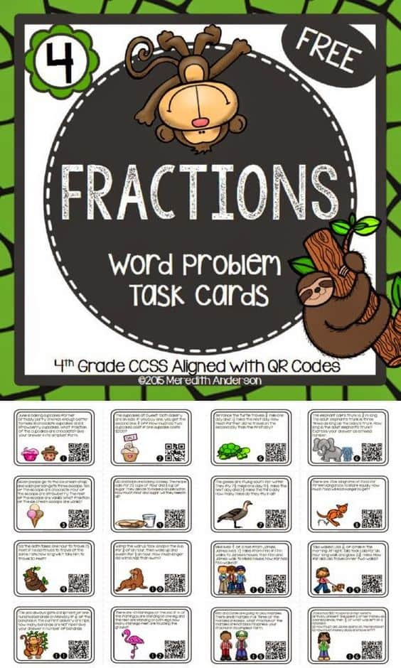 image about Free Printable Task Cards identify No cost Printable Portion Term Issue Process Playing cards - Homeschool