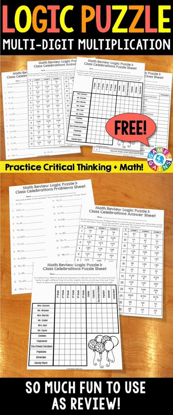 free multiplication activity logic puzzles homeschool giveaways. Black Bedroom Furniture Sets. Home Design Ideas