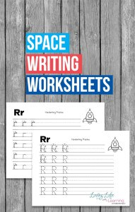 space-writing-worksheets
