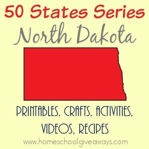 Are you studying North Dakota? Or planning a trip soon? Check out all these resources to create a fun unit study about the state with your kids! From free printables to crafts and activities to recipes and more! :: www.homeschoolgiveaways.com