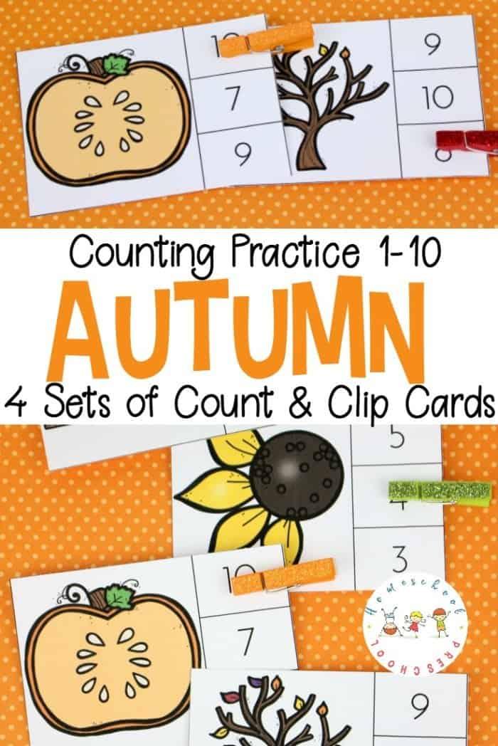 Autumn Clip Cards PIN