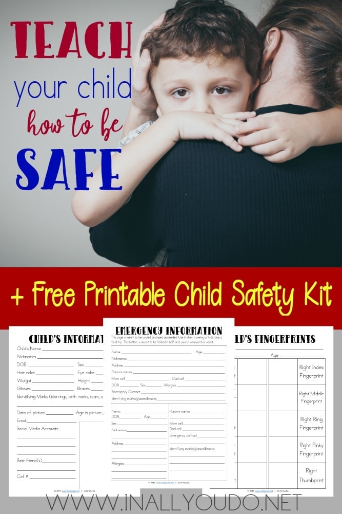 Even though we never want to think about something happening to our children, it is important to teach them how to be safe & be prepared ourselves. This FREE Printable Child Safety Kit is perfect! :: www.homeschoolgiveaways.com