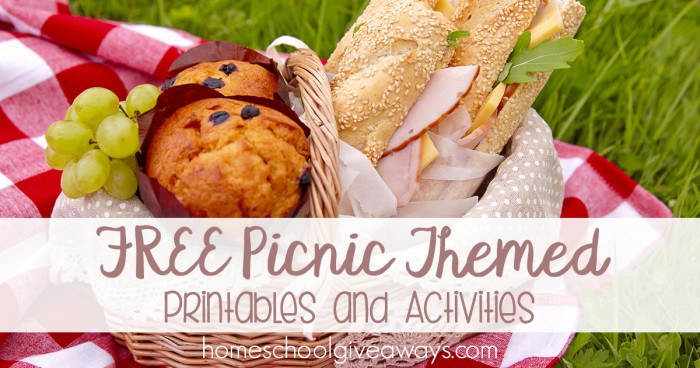 FREE Picnic Themed Printables and Activities FB