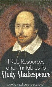 FREE Resources and Printables to Study Shakespeare