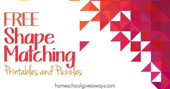 FREE Shape Matching Printables And Puzzles