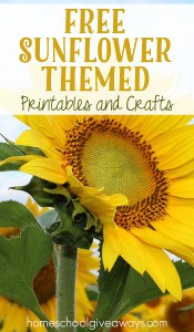 FREE Sunflower Themed Printables and Crafts