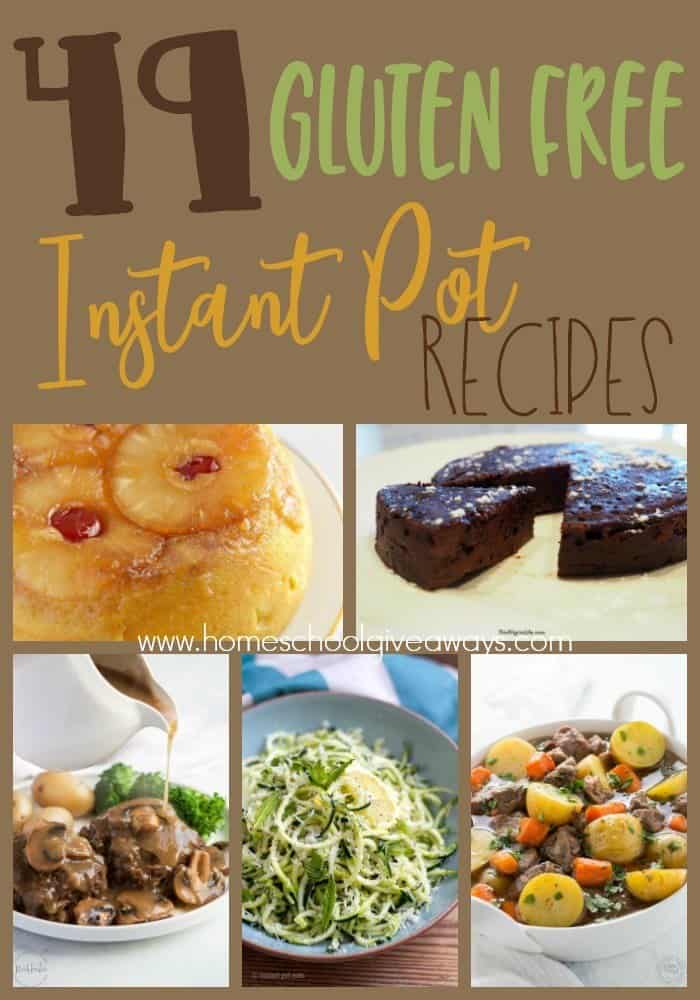 Do you follow a Gluten Free diet? Now you can make delicious meals and desserts in the Instant Pot! Check out these recipes! :: www.homeschoolgiveaways.com