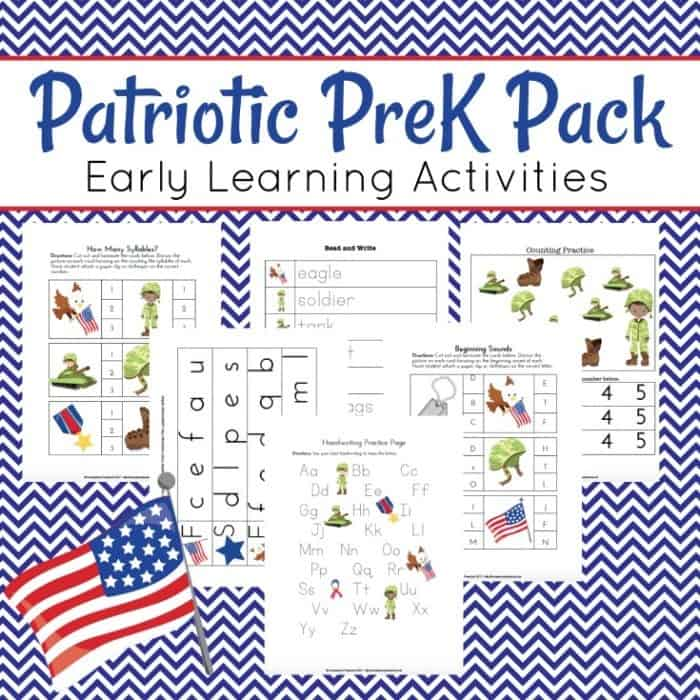 Patriotic PreK Pack Square
