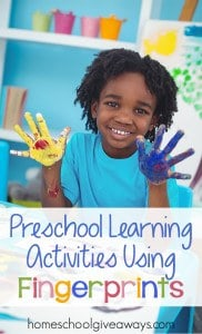 Preschool Learning Activities Using Fingerprints