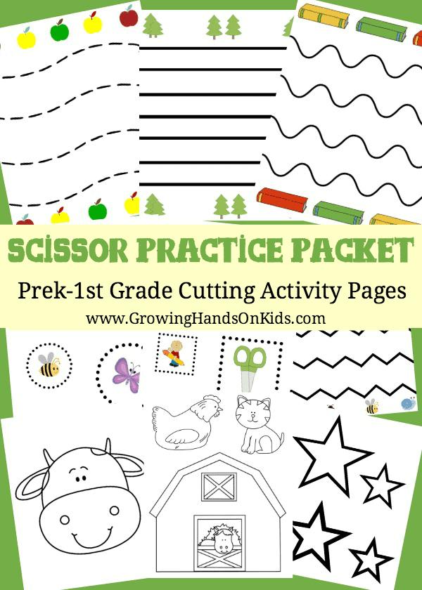 Free Scissor Practice Packet Pre K 1st Grade Homeschool Giveaways