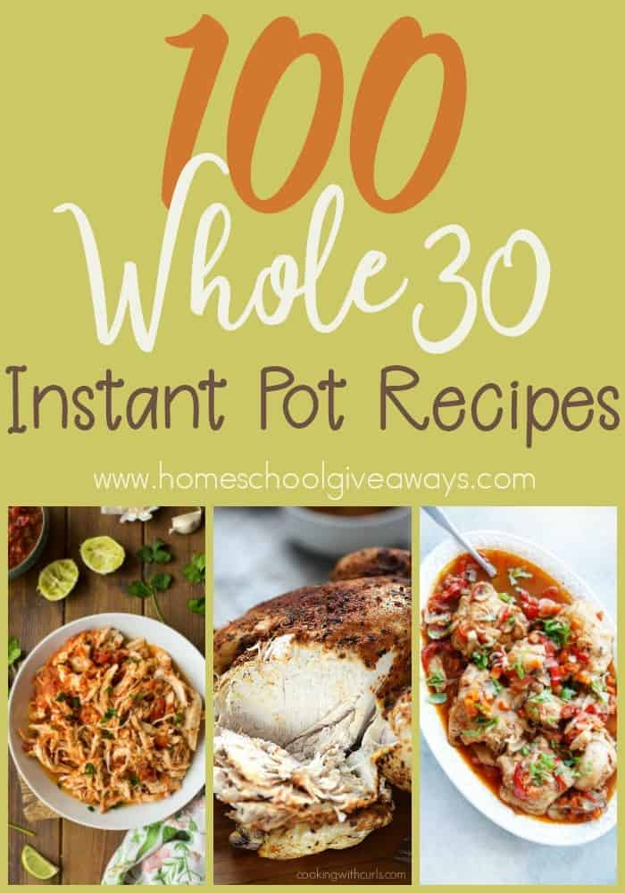 Are you following the Whole30 lifestyle? Make your life and meals easier with these Whole30 Instant Pot Recipes! :: www.homeschoolgiveaways.com