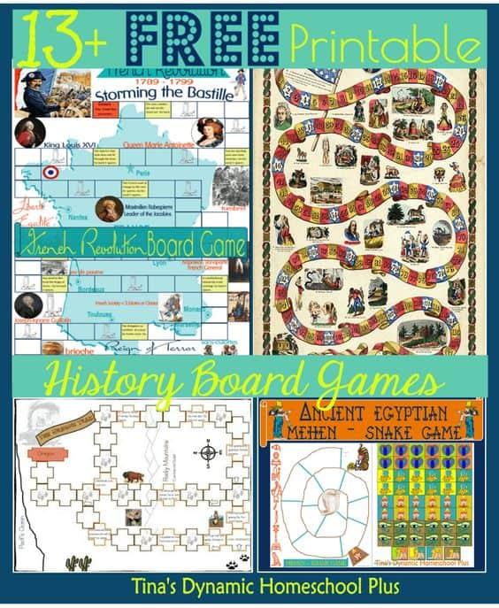 13+ FREE Printable History Board Games - Homeschool Giveaways