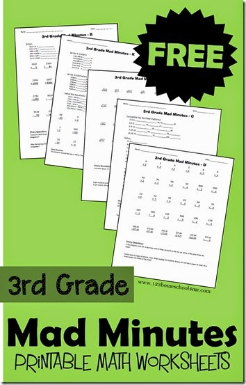 FREE 3rd Grade Mad Minutes Math Worksheets - Homeschool ...