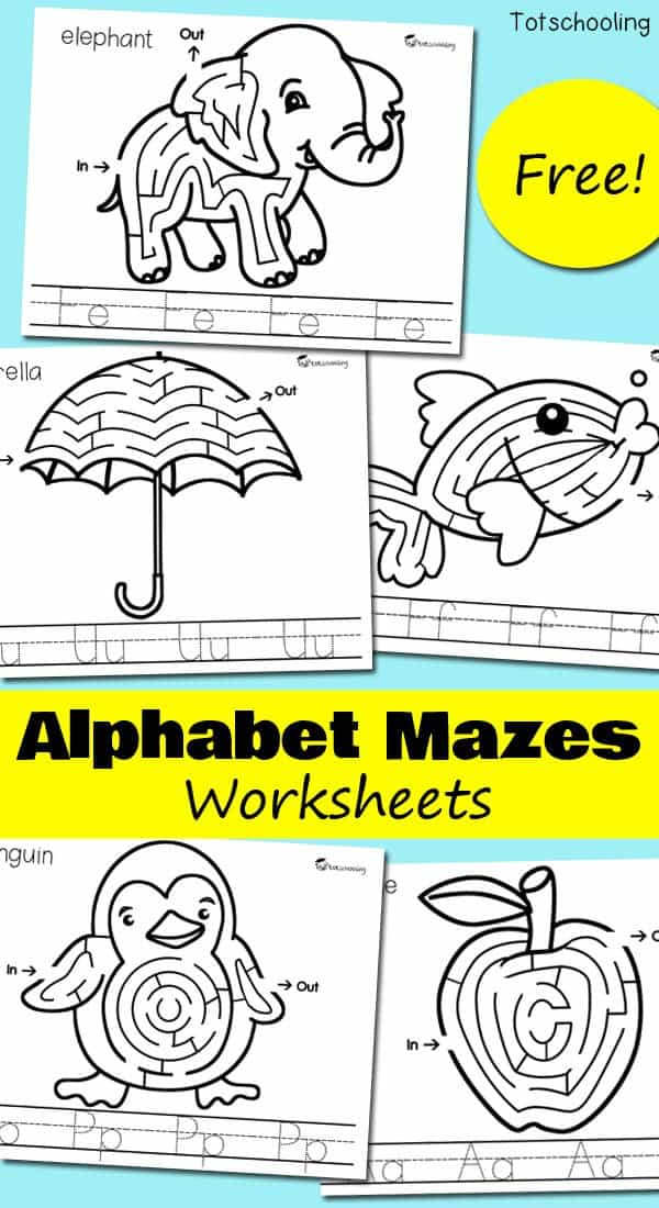 Alphabet-Mazes-Worksheets