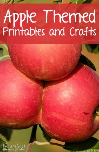 Apple Themed Printables and Crafts