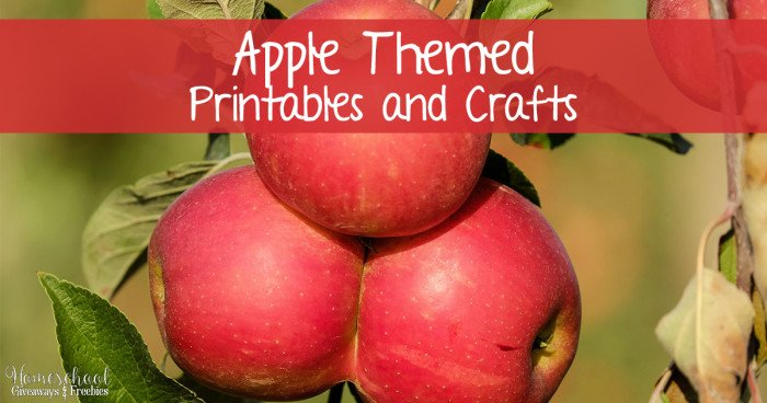 Apple Themed Printables and Crafts  FB