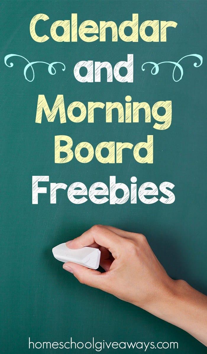 Calendar and Morning Board Freebies | Homeschool Giveaways