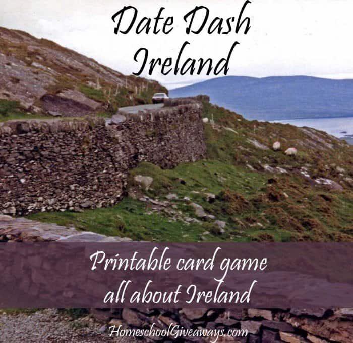 Free Irish History Card Game - Date Dash Ireland
