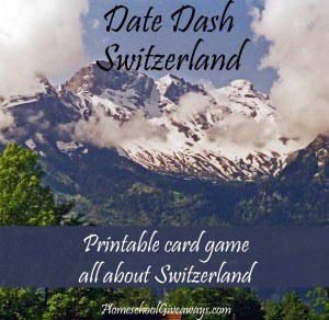 FREE Swiss History Card Game - Date Dash Switzerland