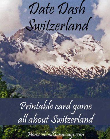 FREE Swiss History Card Game - Date Dash Switzerland