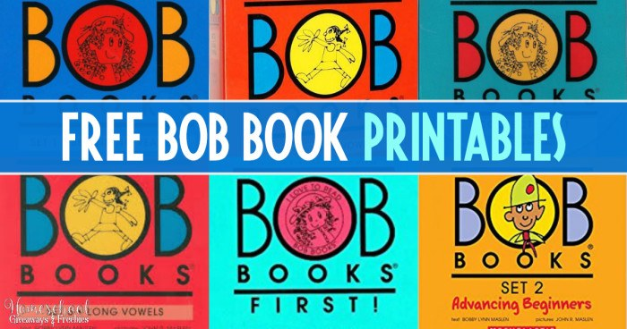 FREE BOB Book Printables FB