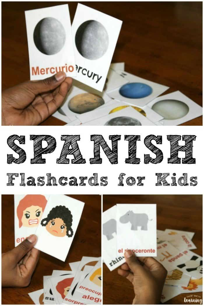 photograph regarding Spanish Flashcards Printable identified as Totally free Printable Spanish Flashcards - Homeschool Giveaways