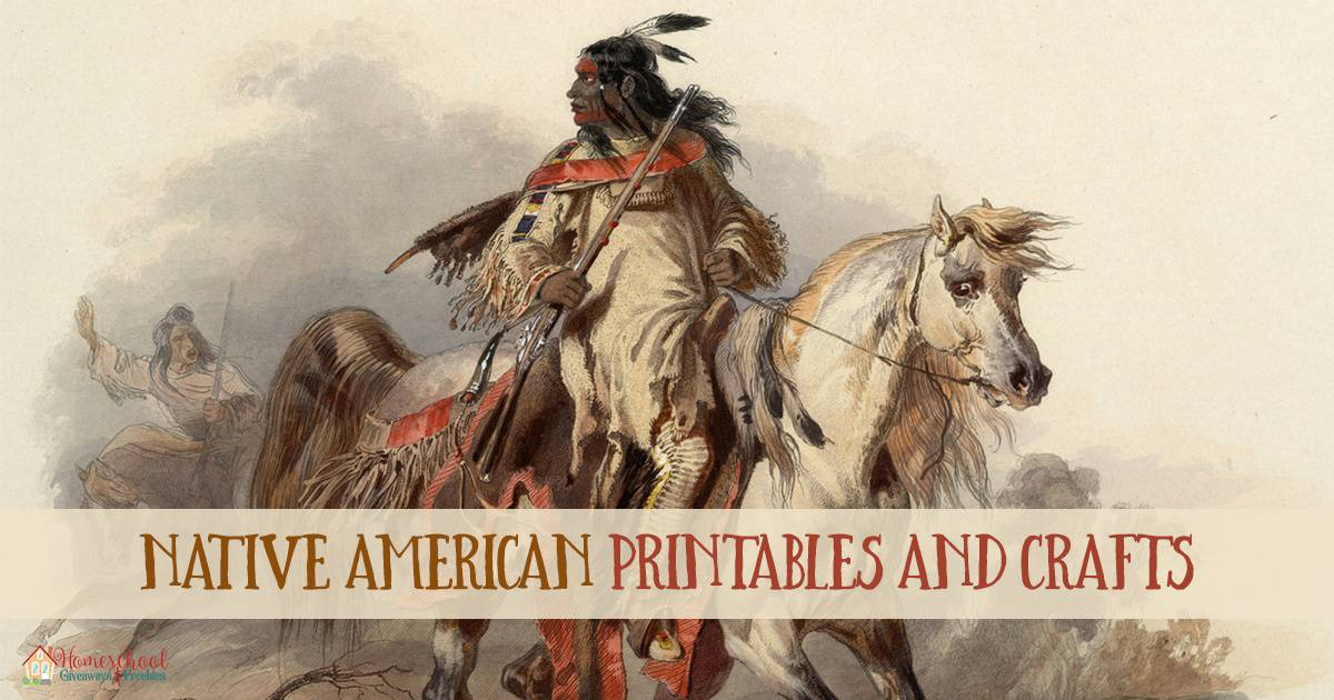 Native American Printables and Crafts FB