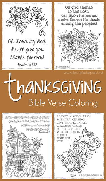 FREE Thanksgiving Bible Verse Coloring Pages