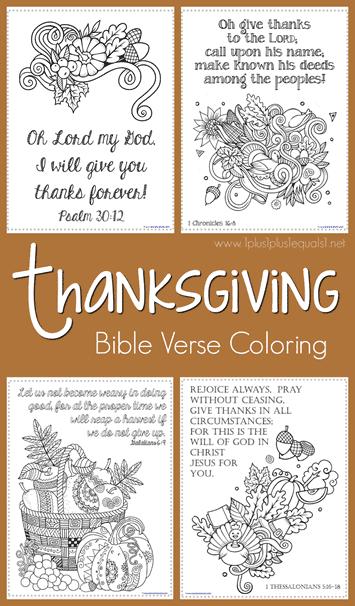 FREE Thanksgiving Bible Verse Coloring
