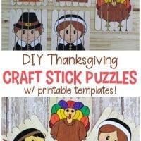 Thanksgiving Craft Stick Puzzles