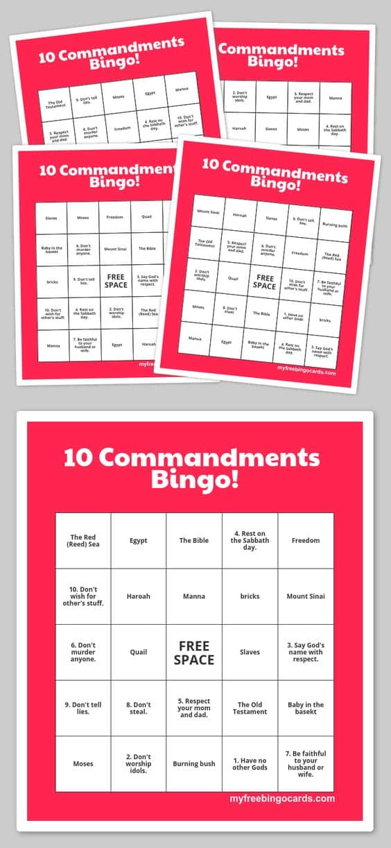 Influential image in 10 commandments printable