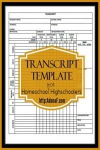homeschool-transcript-template