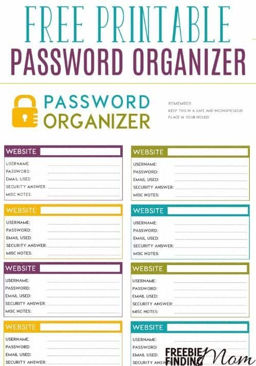 Playful image intended for password list printable
