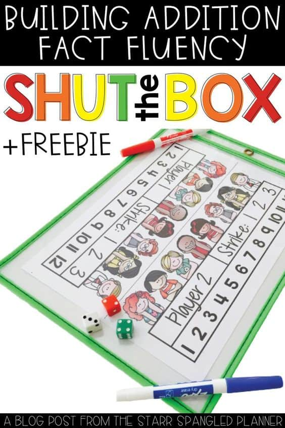 photograph about Printable Addition Games referred to as Closed the Box Cost-free Printable Addition Math Recreation - Homeschool