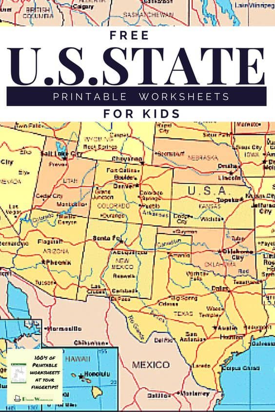 Free Us State Printable Worksheets For Kids. 0b53261981a0881b9431840ffac535bc. Worksheet. Us States Worksheets At Mspartners.co