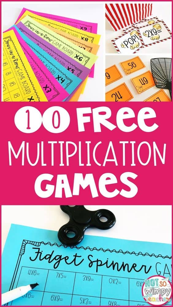 photograph about Multiplication Game Printable named 10 Free of charge Printable Multiplication Video games - Homeschool Giveaways