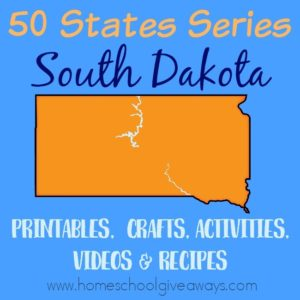 Everything you need to teach and/or learn about the great state of South Dakota. From free printables to must see places to visit, to crafts, activities and more! :: www.homeschoolgiveaways.com