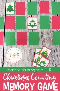 Christmas Counting Game Pin