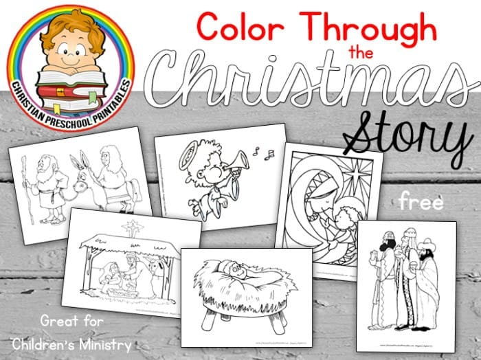 FREE Christmas Story Bible Coloring Pages