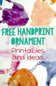 FREE Handprint Ornament Printables and Ideas