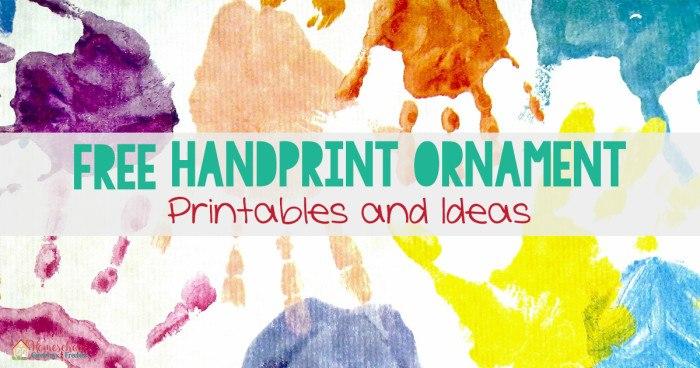 FREE Handprint Ornament Printables and Ideas FB