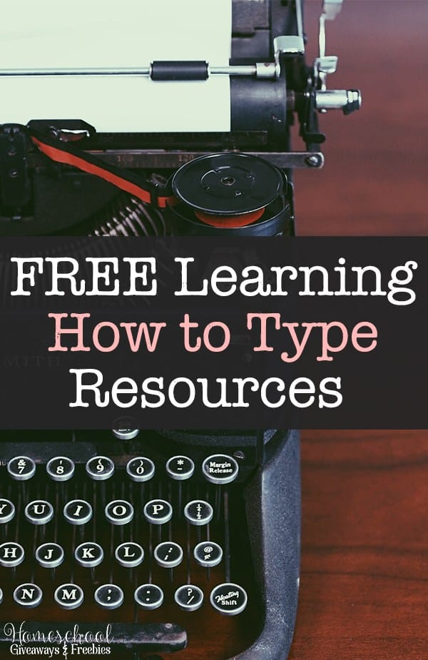 FREE Learning How to Type Resources