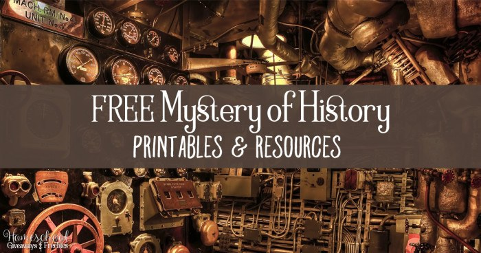FREE Mystery of History Printables and Resources FB