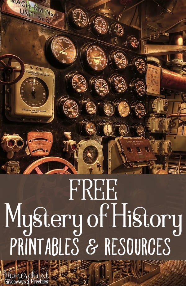 FREE Mystery of History Printables and Resources