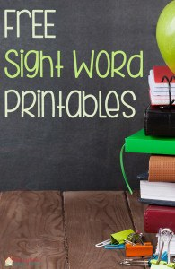 FREE Sight Word Printables