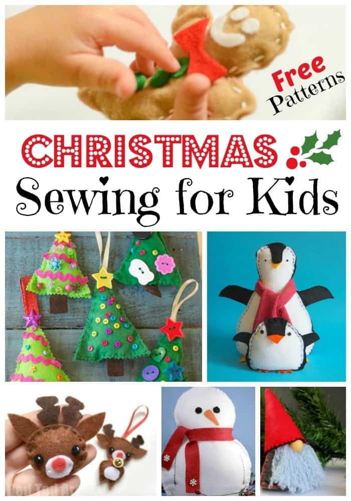 Christmas sewing projects for kids with free patterns for Christmas craft projects for kids