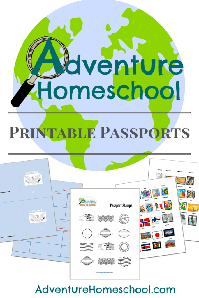 graphic about Stamp Printable named Free of charge Printable Pports and Region Stamps - Homeschool