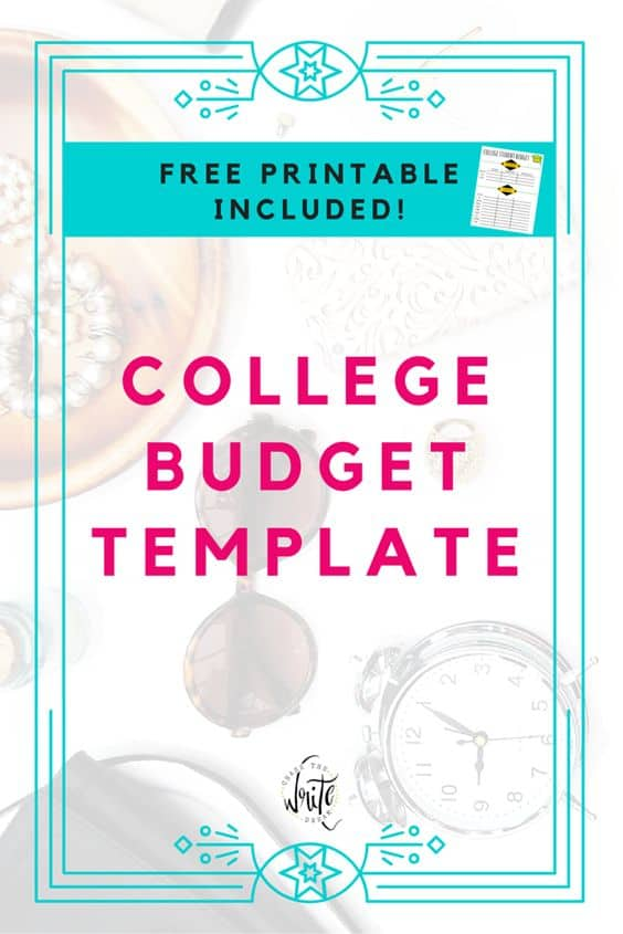 free printable college budget template homeschool giveaways