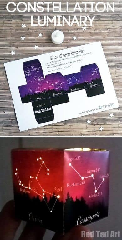 graphic regarding Constellation Printable referred to as No cost Printable Constellation Luminary Paper Craft