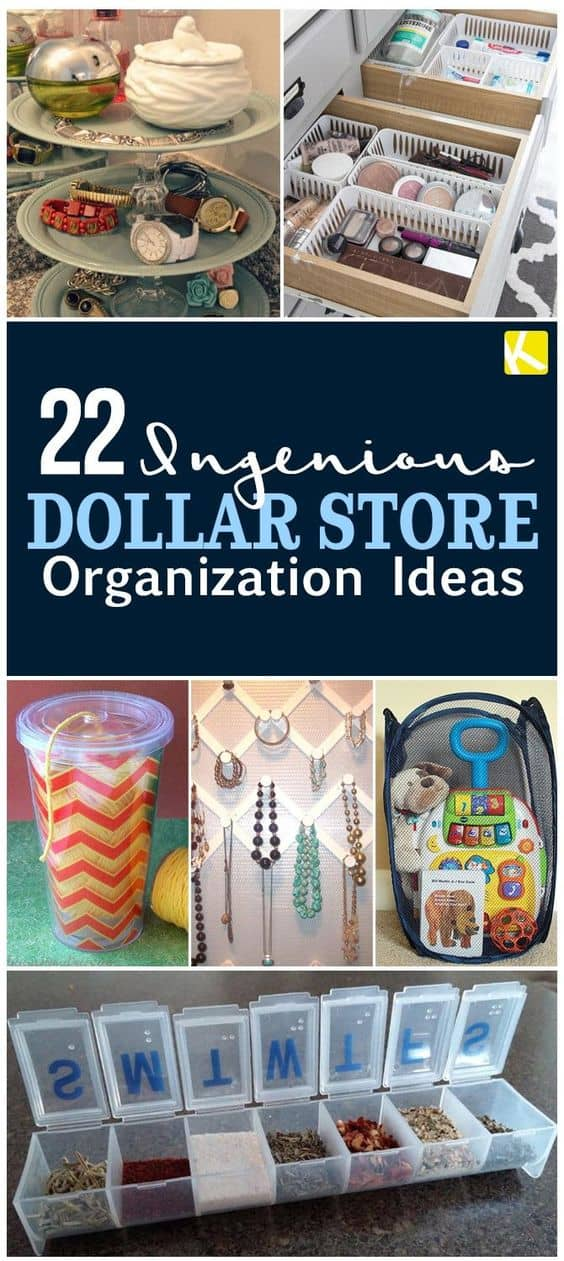 dollar store diy organization 22 ingenious dollar organization ideas 10803